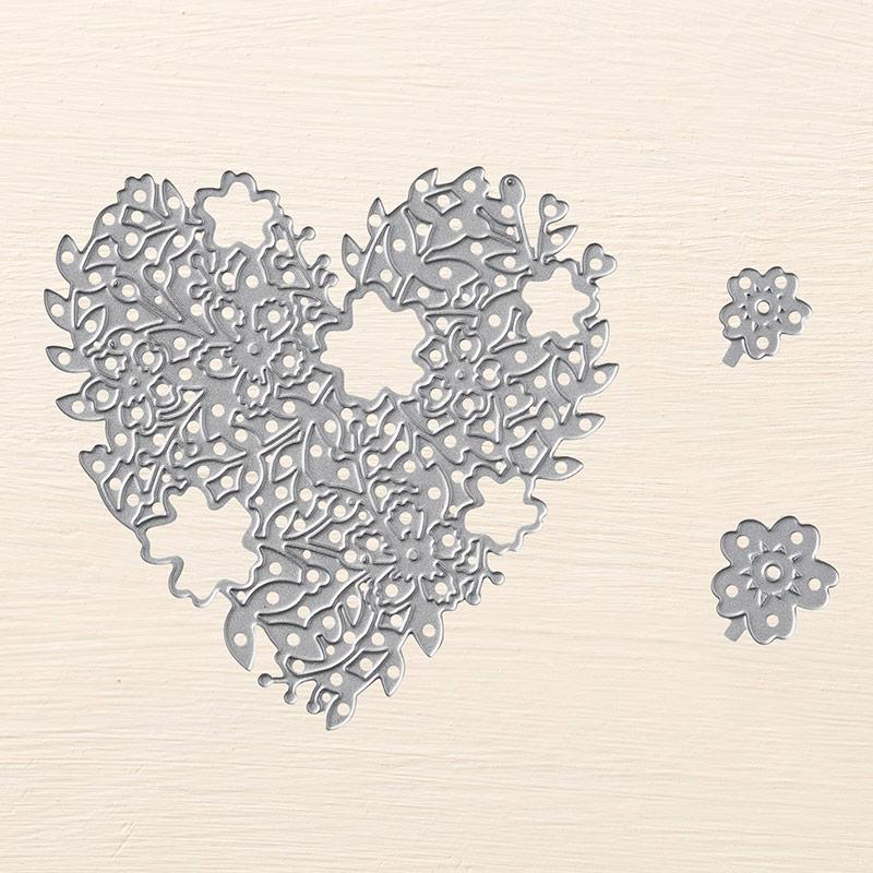 Heart Dies: Stampin'UP!'s Bloomin Heart Thinlit Dies