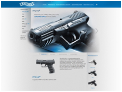 Walther Arms Products page