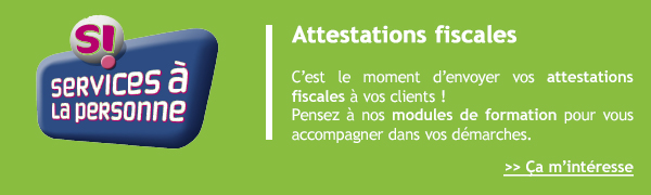 Attestation fiscales