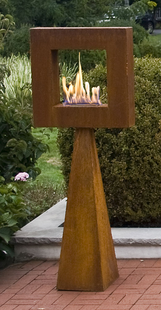 Frame The Flame garden statue