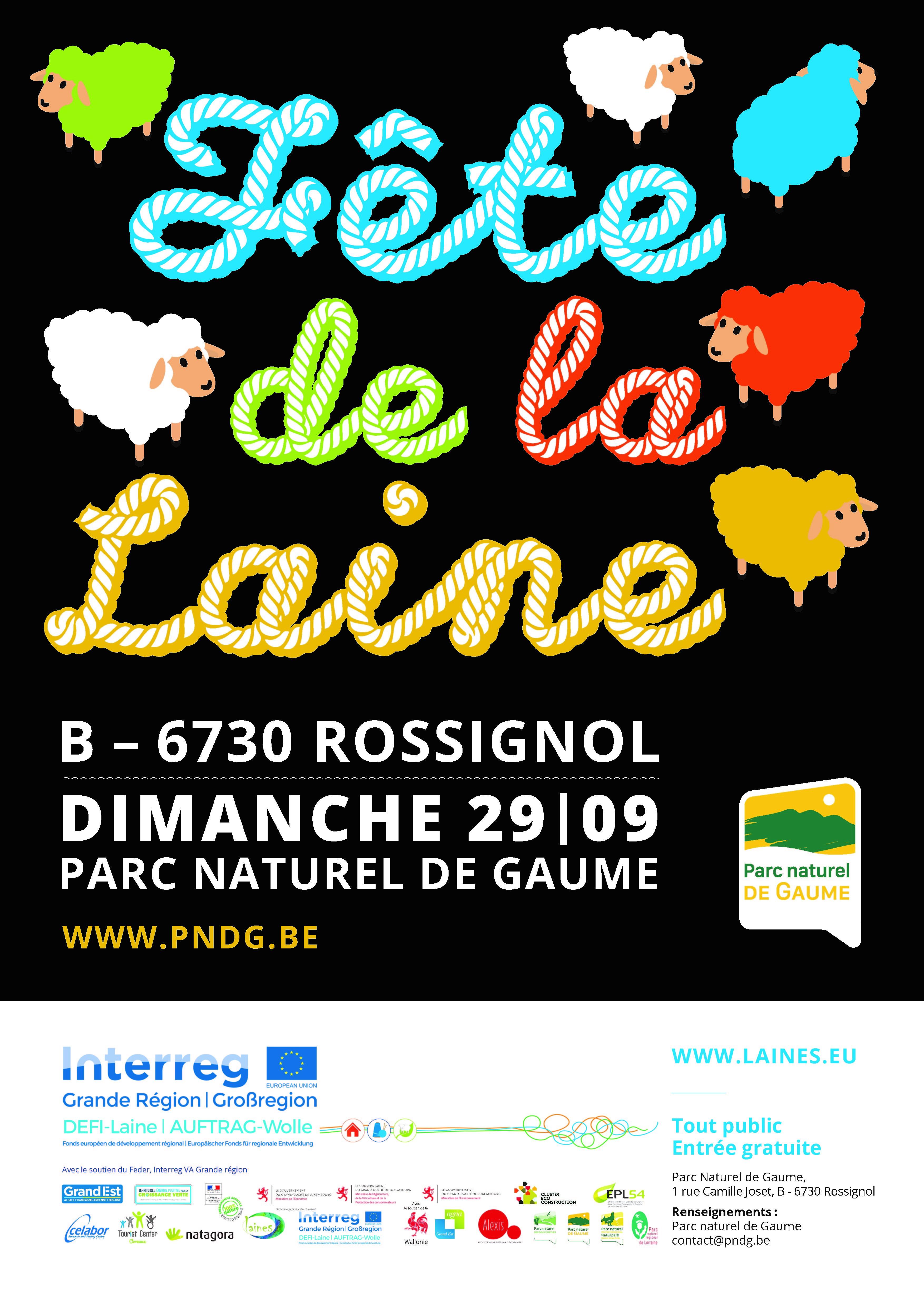 L'univers de DEFI-laine, Affiche de la Fête de la laine à Rossignol le dimanche 29 septembre 2019