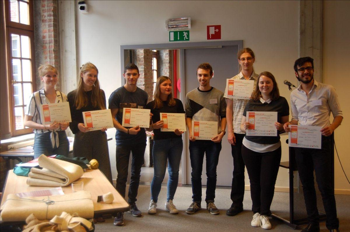 Les vainqueurs du concours designers etudiants de DEFI-Laine