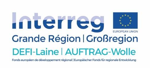 L'univers de DEFI-Laine logo Interreg