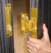 Installation is made easier having the hinge clip into place