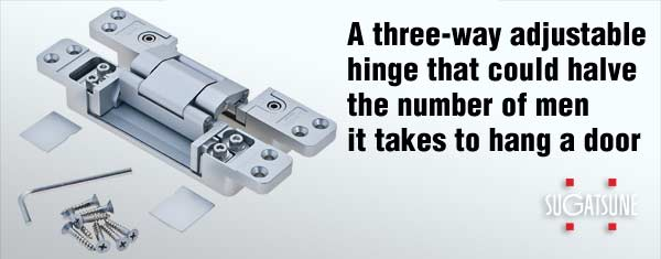 HES3D 3-way adjustable concealed hinge from Sugatsune