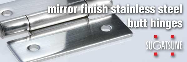 LSB-40 Mirror Finish Stainless Steel Butt Hinge by Sugatsune