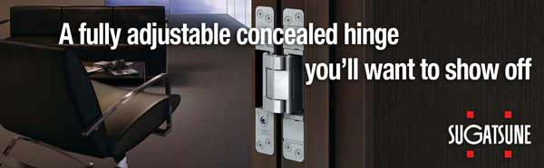 An adjustable concealed hinge you'll want to show off
