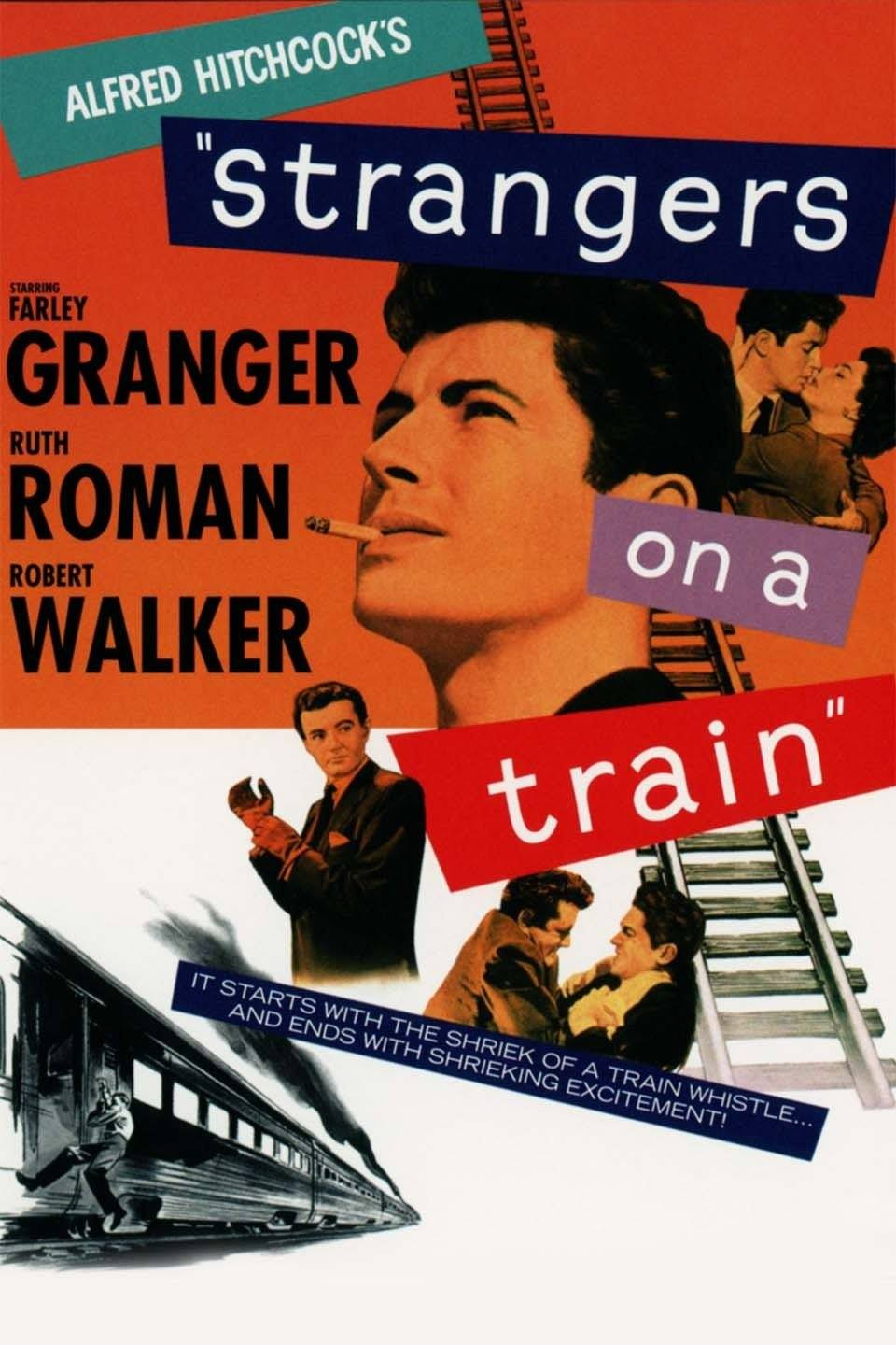 """""""Strangers On a Train"""" poster"""