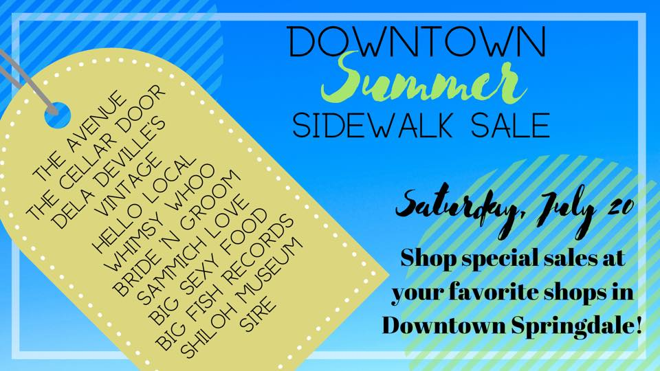 Summer Sidewalk sale graphic