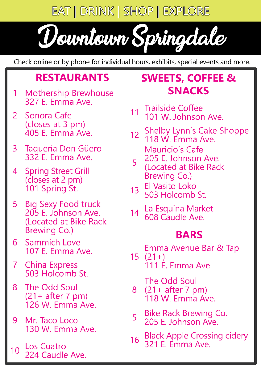 Downtown Springdale guide 1