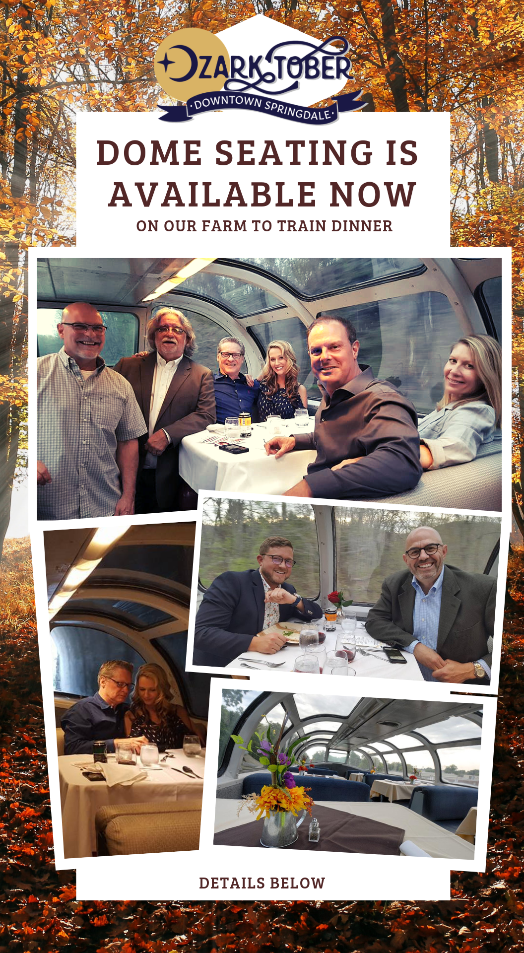 Farm to Train Dinner dome seating available now