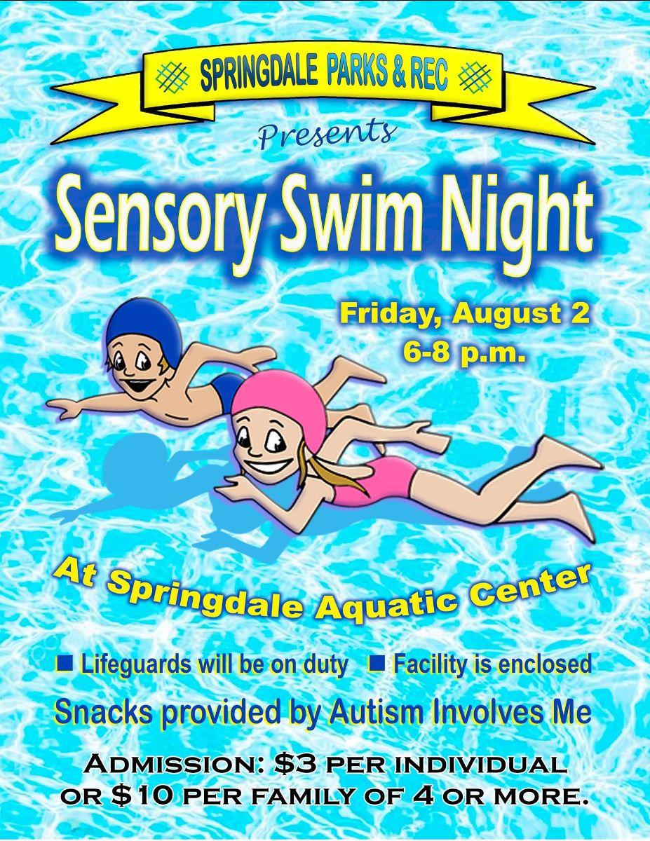 Senosory Swim Night flyer