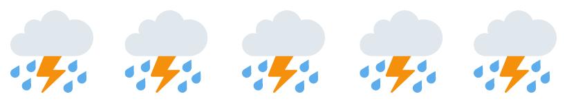 Rain cloud emojis