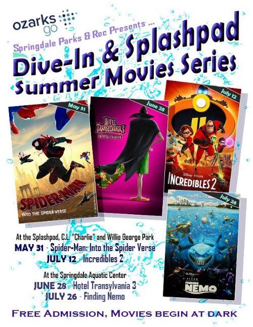 Dive-in Movie flyer