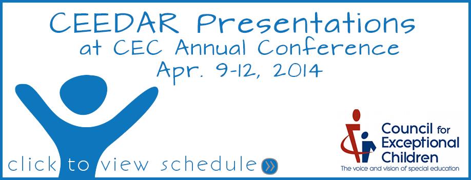 CEEDAR CEC Presentation Schedule