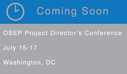 Coming Soon: OSEP Project Directors Conference July 15-17 Washington DC
