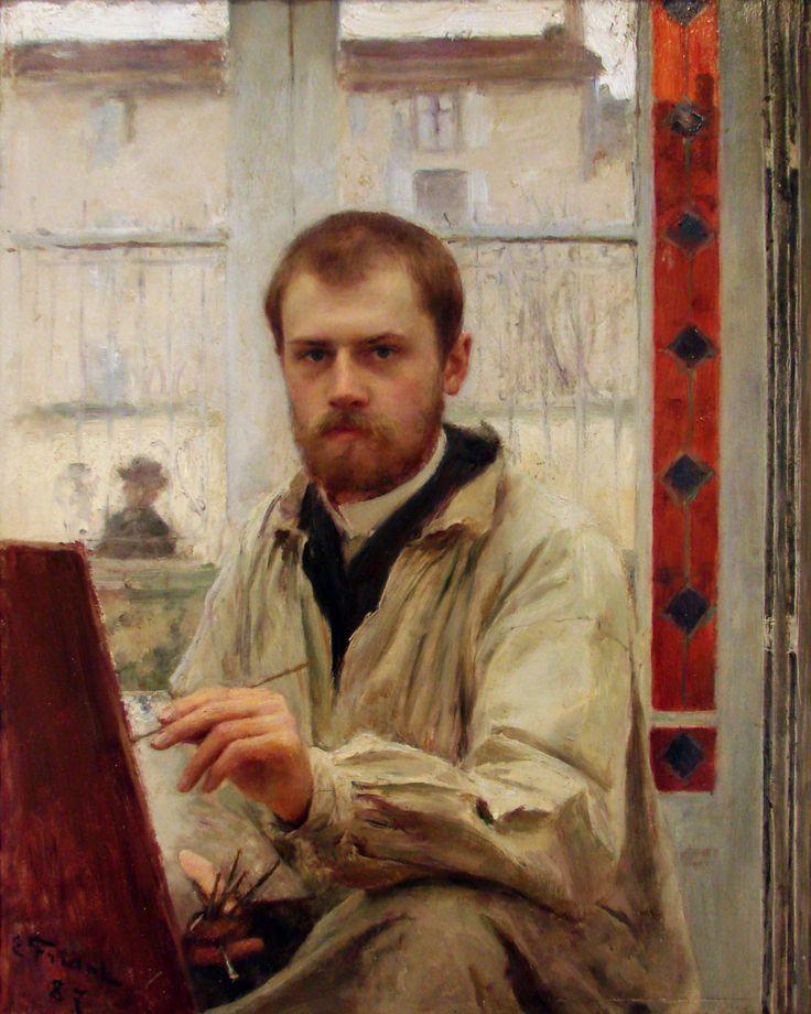 Emile Friant, zelfportret