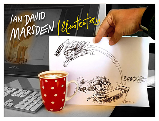 Freelance Illustrator Ian David Marsden - Fall 2015 Newsletter