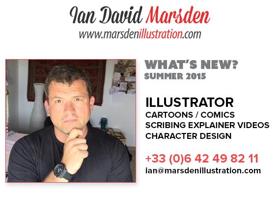 News from Illustrator Ian Marsden - Summer 2015