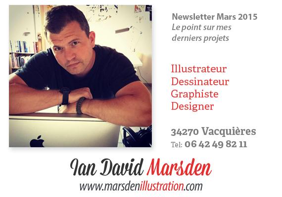 Nouvelles de Ian Marsden Illustration - Le point sur mes derniers projets