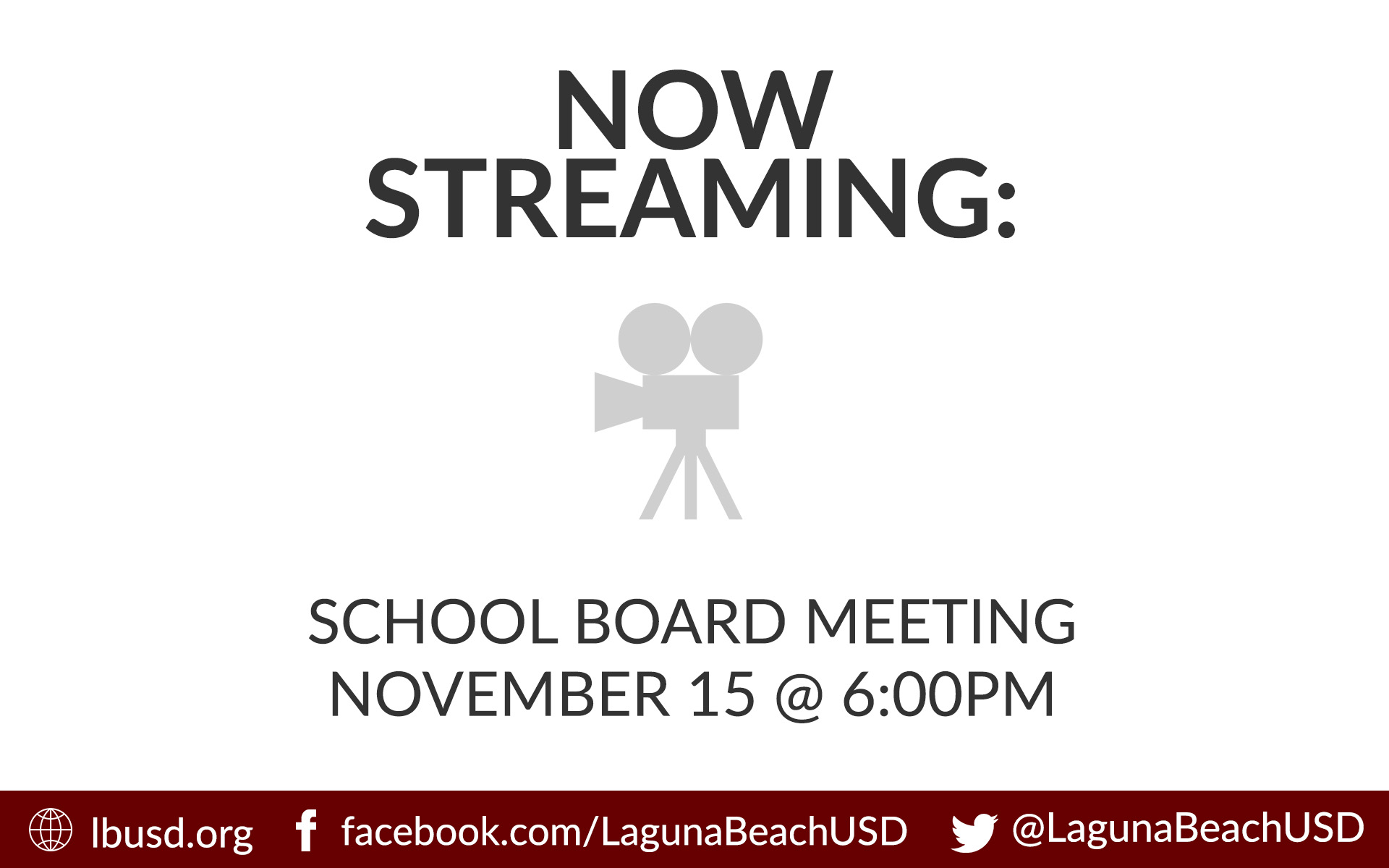 School Board Meeting Streamed