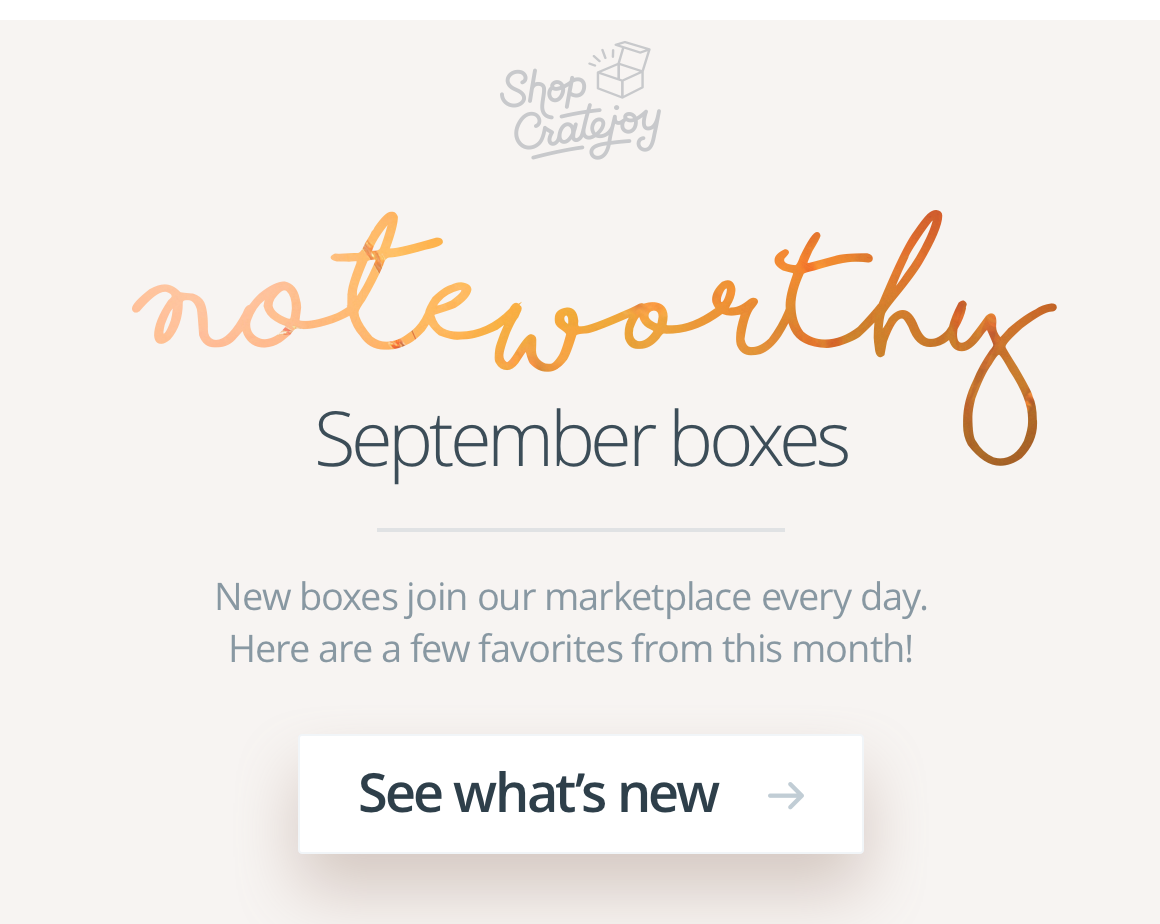 Noteworthy September boxes – See the goods!