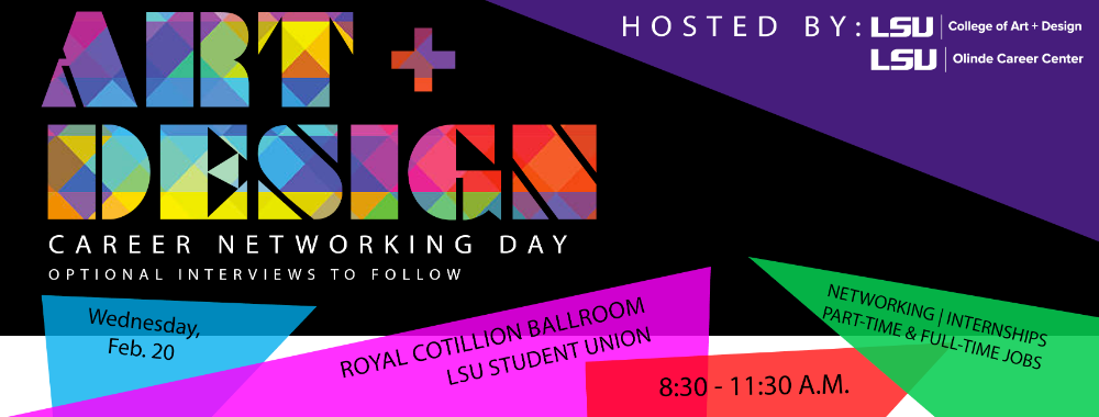 Art & Design Career Networking Day is Feb. 20, 2019!
