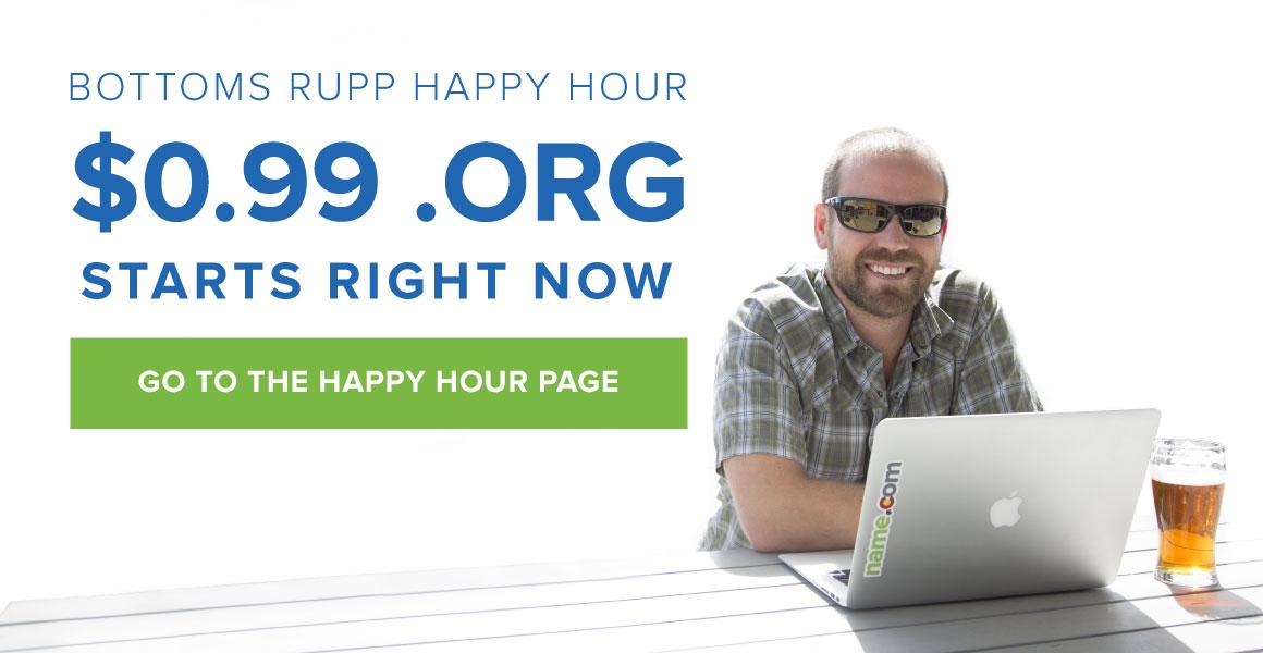 $0.99 .ORG Happy Hour
