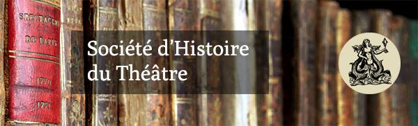 entête newsletter société d'histoire du théâtre
