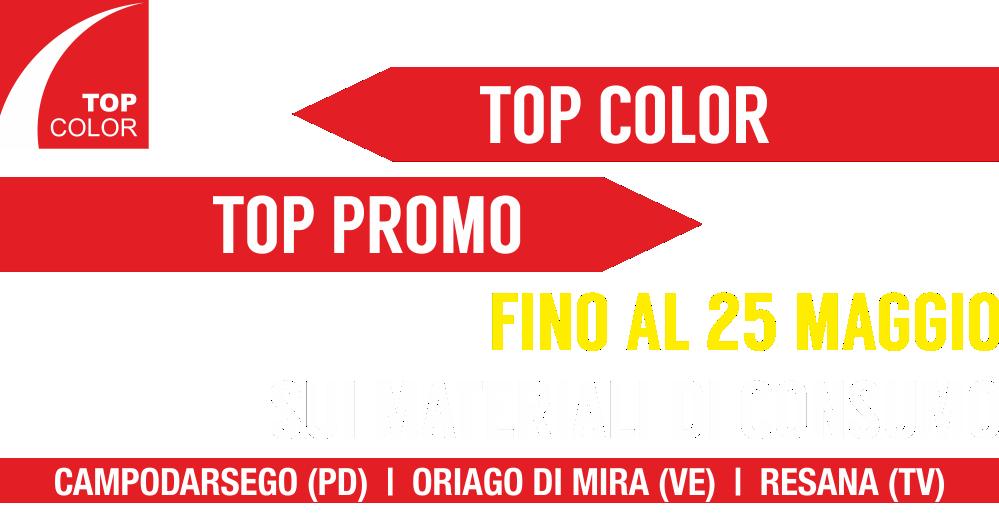 Top Color fino al 25 Maggio promo di primavera sui materiali di consumo