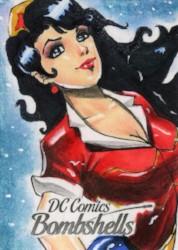 DC Bombshells Trading Cards - Sketch Card - Israel Arteaga