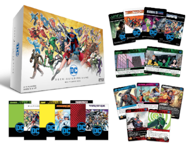 DC Deck-Building Game Multiverse Box components