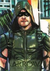 Arrow Trading Cards Season 4-Sketch Card-Carlos-Cabaleiro