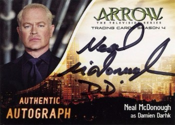 Arrow Trading Cards Season 4-Autograph Card-Neal McDonough