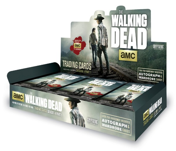 The Walking Dead Season 4, Part 1 Trading Cards Display