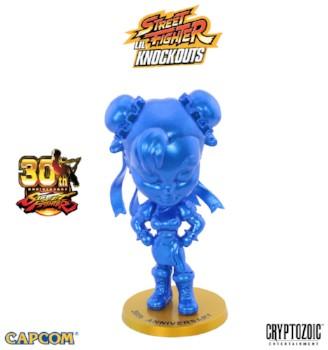 Metallic Blue Chun-Li Street Fighter Knockouts vinyl figure