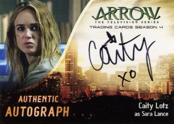Arrow Trading Cards Season 4-Autograph Card-Caity Lotz