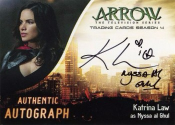 Arrow Trading Cards Season 4-Autograph Card-Katrina Law