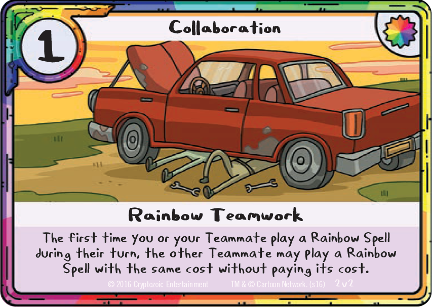 Adventure Time Card Wars Doubles Tournament Rainbow Teamwork Card