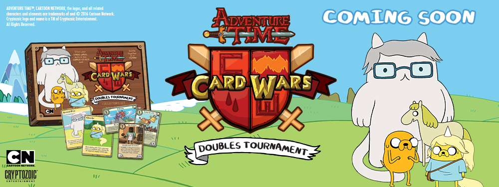 Adventure Time Card Wars Doubles Tournament Banner Art