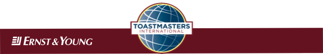 What you missed at E&Y Toastmasters on 31 Jan