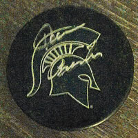 Tom Anastos signed hockey puck