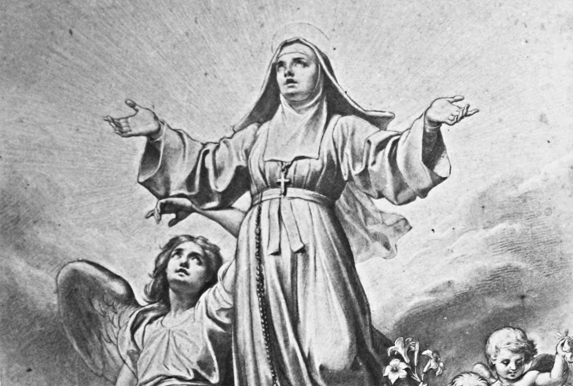 Vitrail - Ste Marguerite-Marie