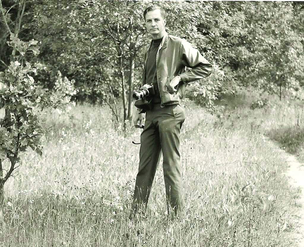 Dr. Thompson in the field, circa 1960.