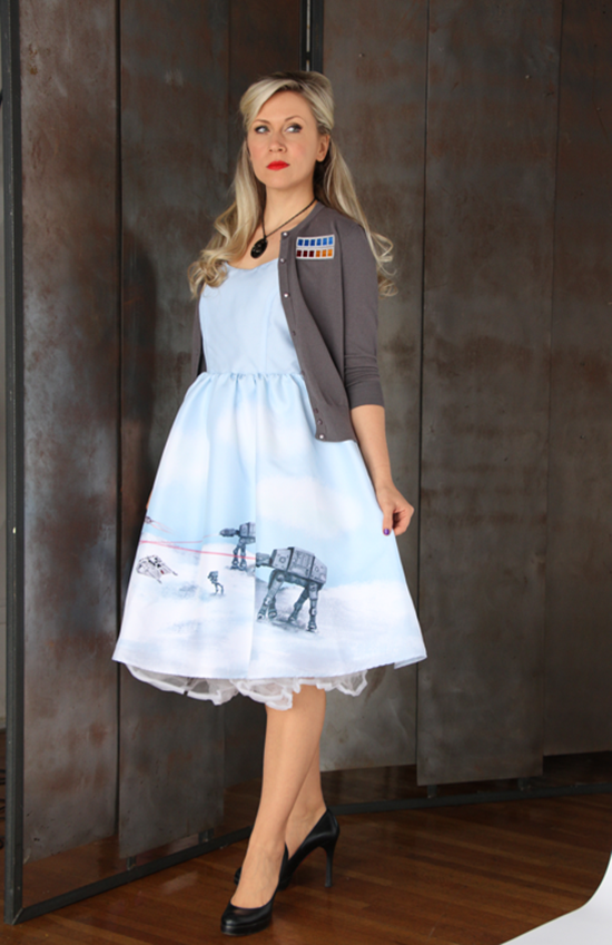 Hoth Dress with Commander Cardigan