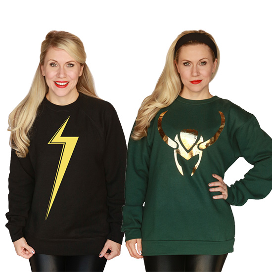 Loki Sweatshirt & Ms. Marvel Sweatshirt