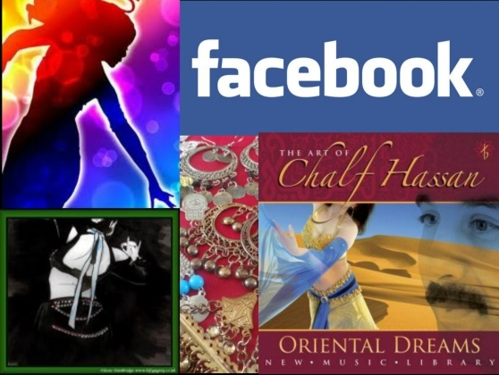 Music CDs belly dance trophies and FACEBOOK