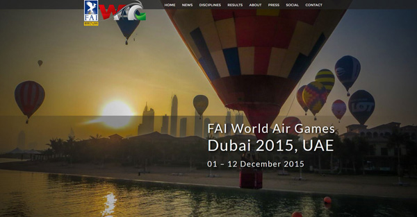 FAI World Air Games website