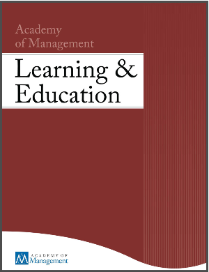 Academy of Management Learning & Education review of Experiential Entrepreneurship Curriculum