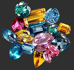 Topaz color ranges from colorless to yellow, blue, pink, and purple.